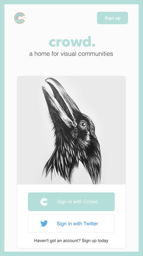 Crow Ilustration on Crowd