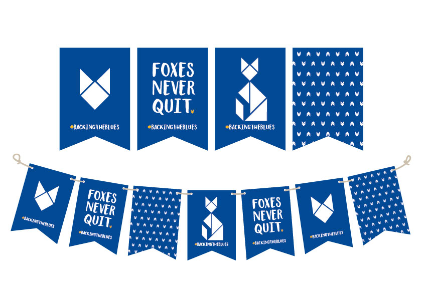 Foxy Bunting Flags