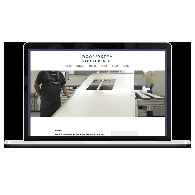 Doorsystem Stockholm    brand & site design