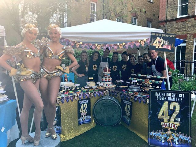 The gorgeous @42ndstreetldn were in the money last year as 2017 winners #westendbakeoff #gbbo #royal