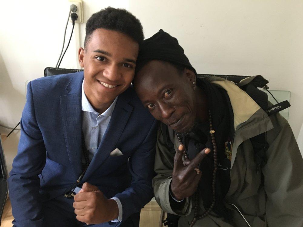 Chadim met zijn geliefde oom uit Zuid-Frankrijk