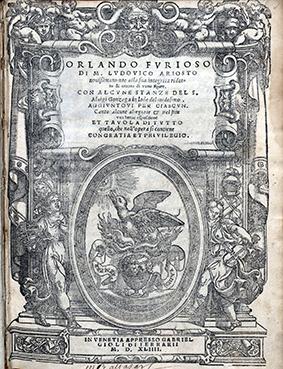 the chivalry factors in orlando furioso 1811 exquisite ariosto orlando furioso roland medieval chivalry italian 6v set a rare early-19 th-century italian printing of lodovico ariosto's famous furious.