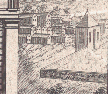 William Westley, The North Prospect of St. Philip's Church, etc. in Birmingham, 1732 (detail), Library of Birmingham, 13922