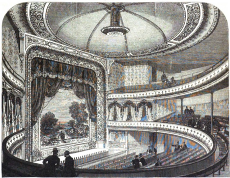 The Globe Theatre, Strand (image from Illustrated London News, 16 January 1869: 65, courtesy of The Hathi Trust, the University of Michigan and the Victorian Web).