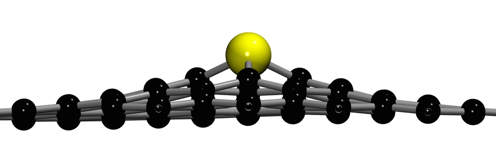 A silicon dopant in graphene