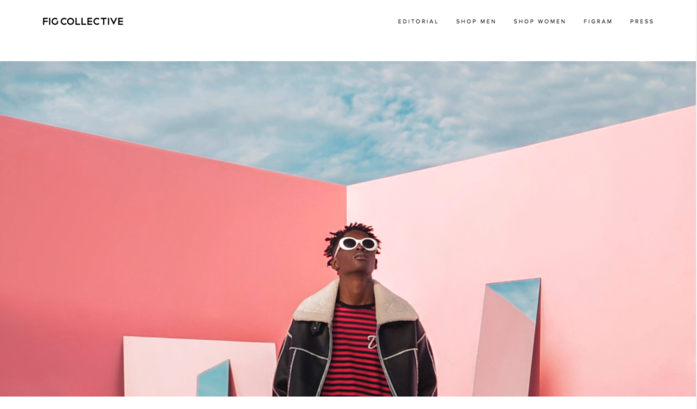 2016 FW FIG Collective ecommerce website