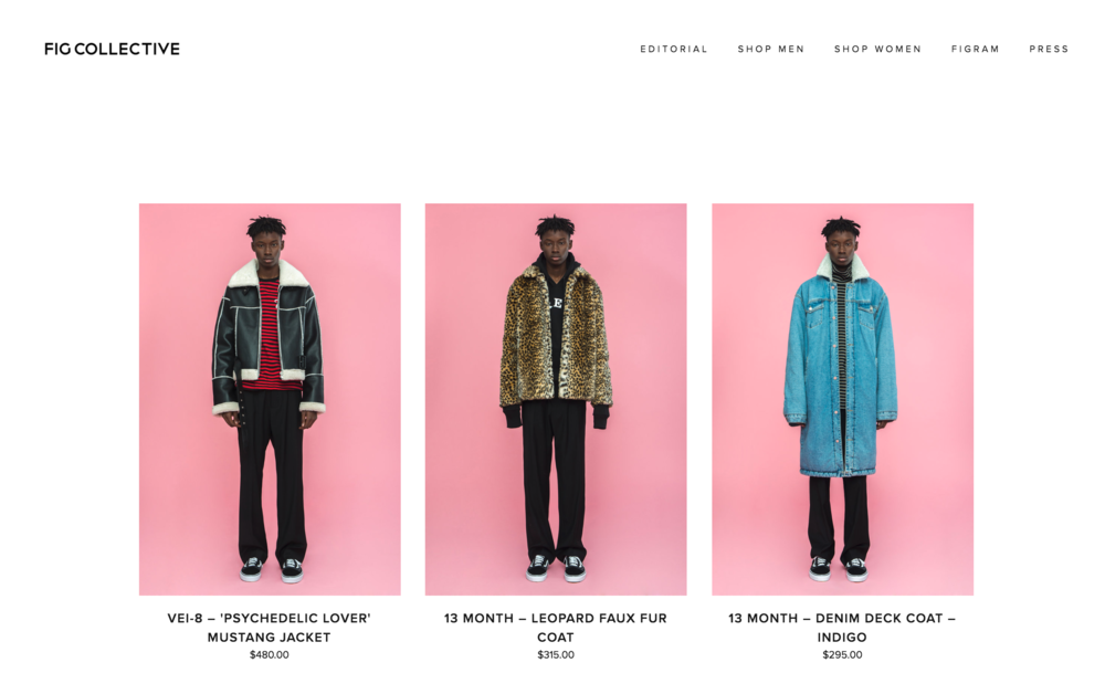 2016 FW FIG Collective E-Commerce