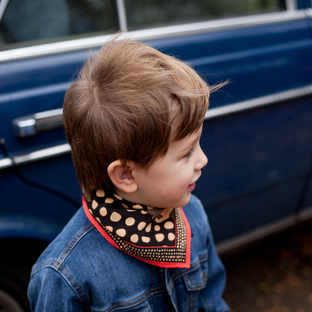 kids silk neckerchief/prints