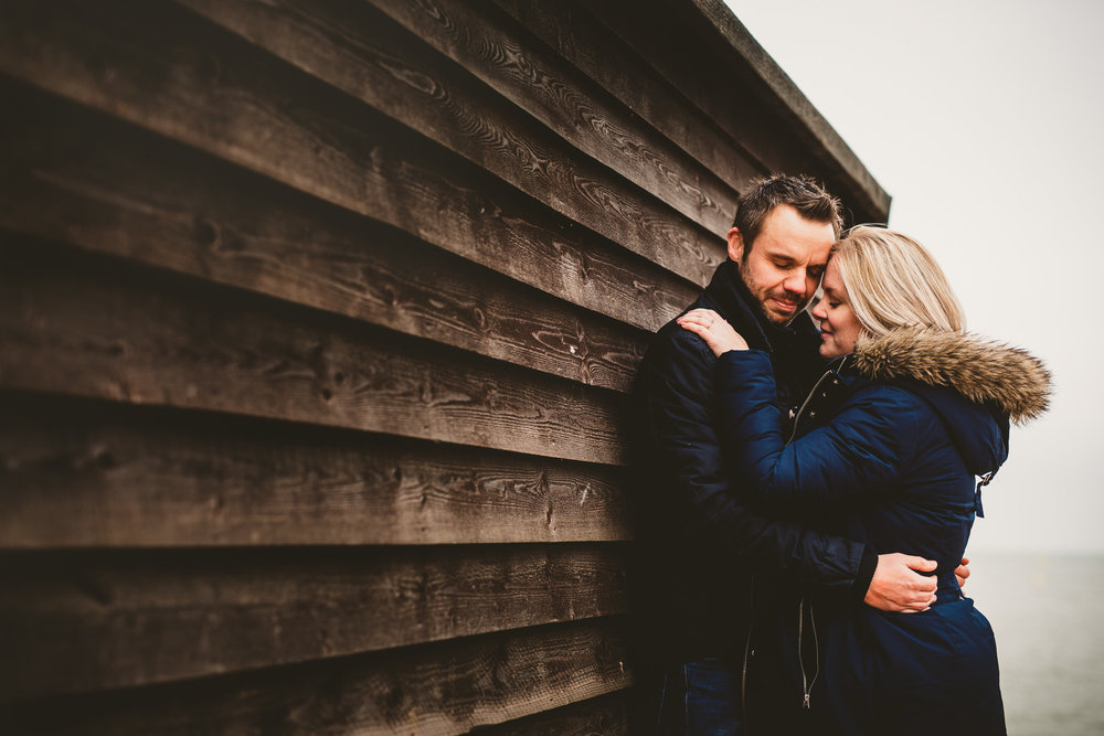 Winter Engagement Session in Whitstable