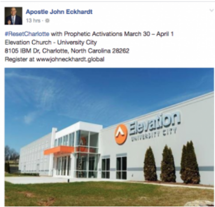 Furtick, Elevation Church activate N A R  Apostles — Pirate