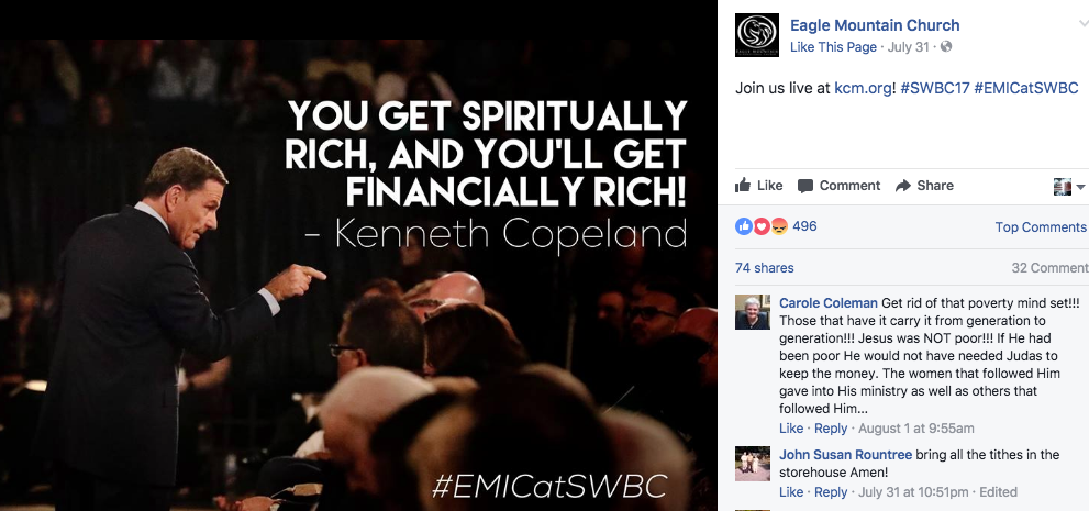 A Kenneth Copeland Meme From Facebook