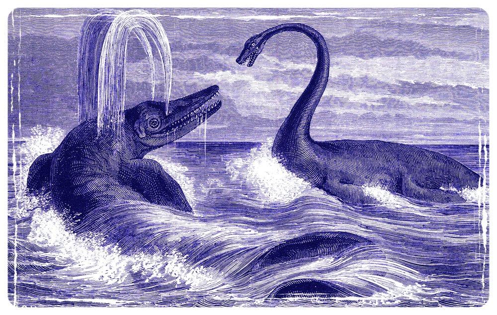 Ichthyosaur_and_Plesiosaur_1863.jpg