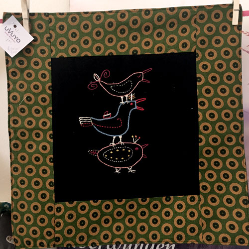 Shweshwe Piet Grobler cushion cover