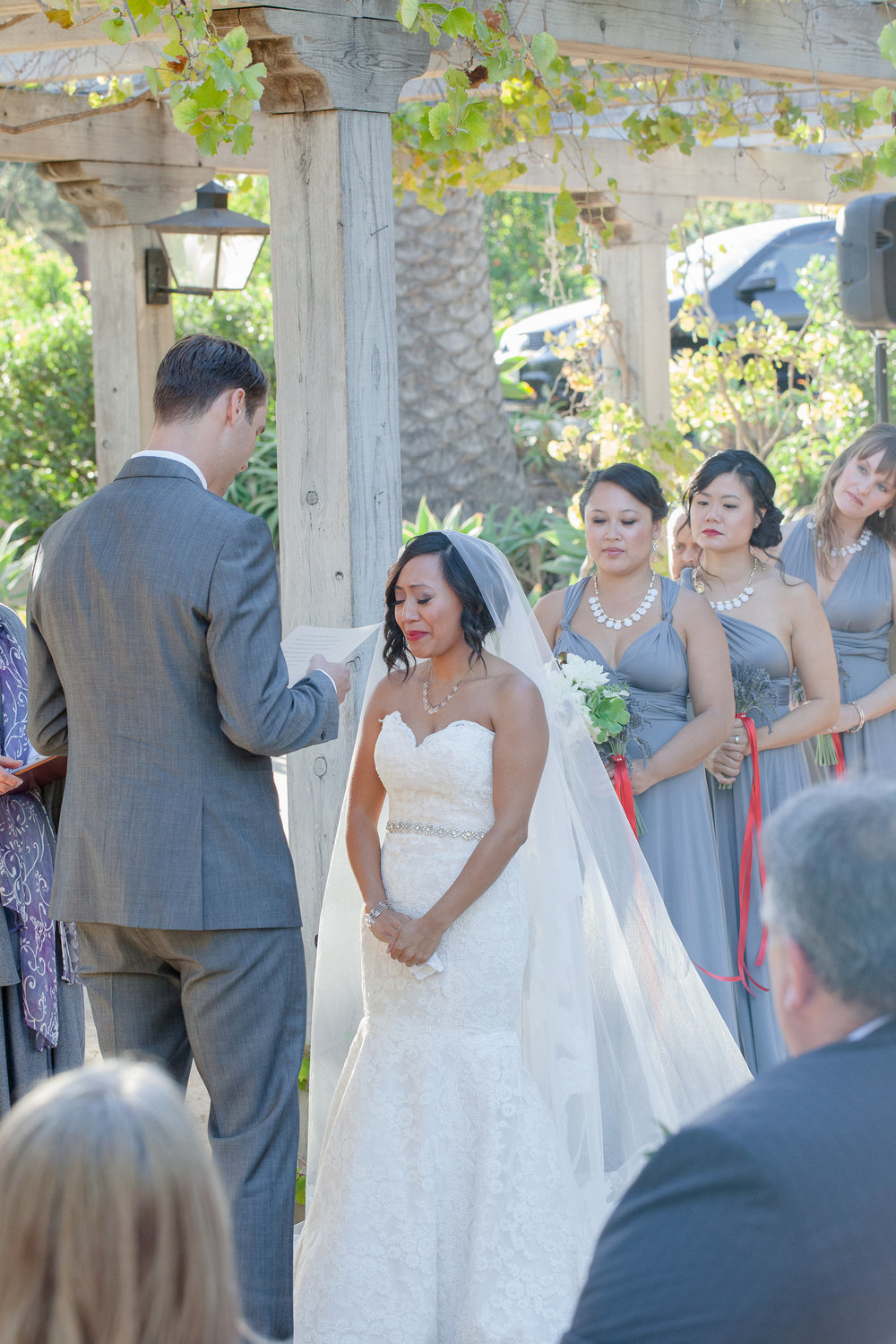 Santa Barbara Historical Museum Wedding Ceremony Officiated by Miriam Lindbeck