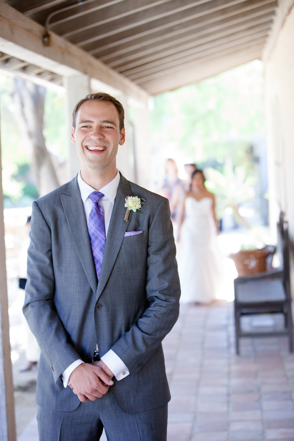 Wedding Ceremony at the Santa Barbara Historical Museum | Miriam Lindbeck | Fortuna Photography