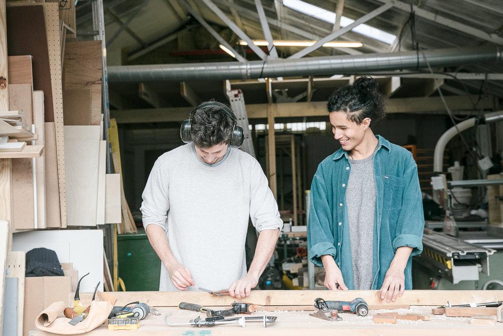 Workshop portraits, Jacob & Kareem.