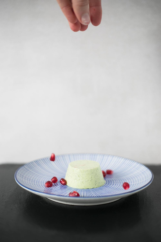 Chloe Edwards food photography Bristol matcha green tea panna cotta with pomegranates heapwell superfoods 2-1243.jpg