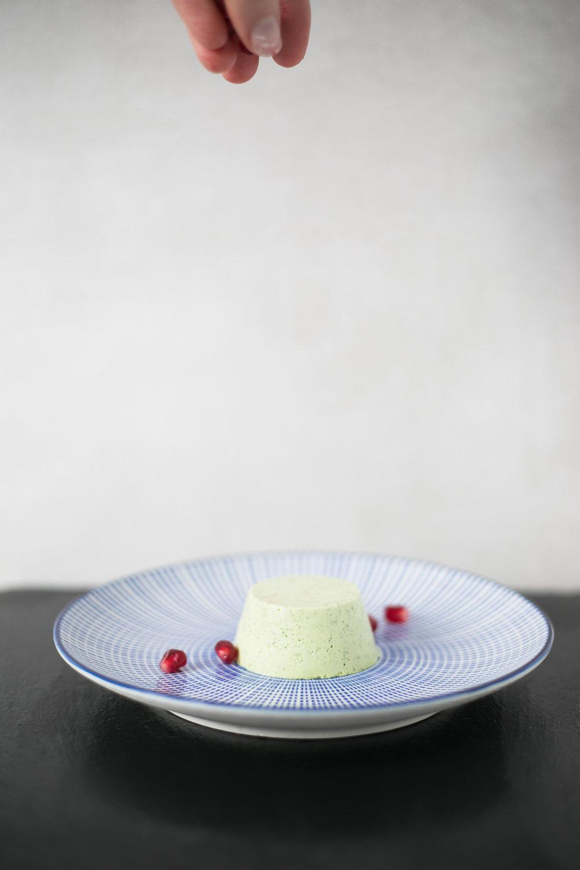 Chloe Edwards food photography Bristol matcha green tea panna cotta with pomegranates heapwell superfoods 2-1242.jpg