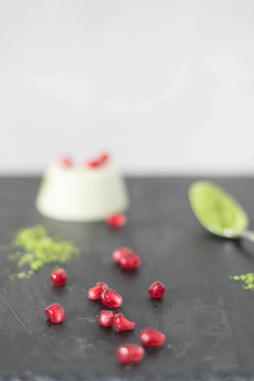 Chloe Edwards food photography Bristol matcha green tea panna cotta with pomegranates heapwell superfoods 2-1390.jpg