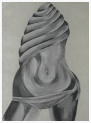 Spiral Woman - Charcoal drawing by Pippa-la Doube. Prints for sale www.pippaladoube.com (Please credit me and link to my website if you use this image)