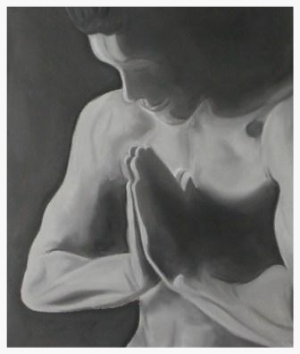 Prayer - Charcoal drawing by Pippa-la Doube. Prints for sale www.pippaladoube.com (Please credit me and link to my website if you use this image)