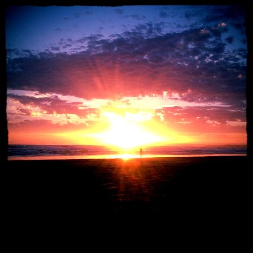 Brighton Sunset - photograph by Pippa-la Doube. Brighton Beach, Adelaide, Summer 2015