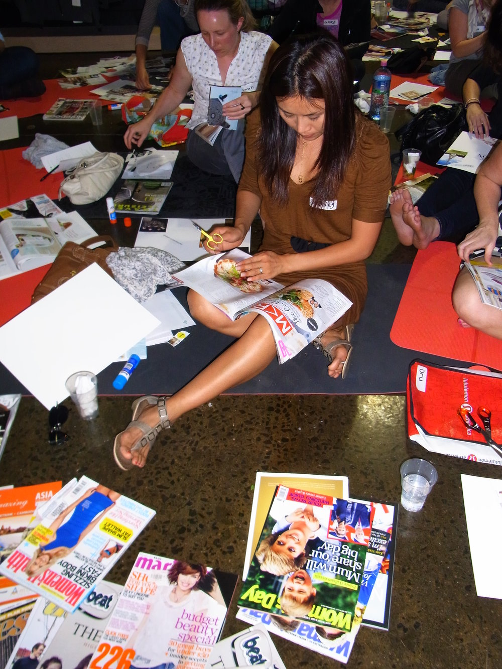 Vision board workshop inspired life creative visioning creation pippa-la pippa doube creativity