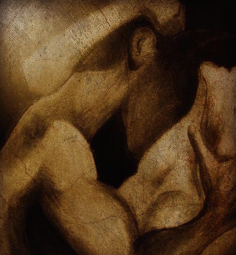 Ancient Desire Charcoal drawing with digital paint overlays artist pippa la doube writer coach creative