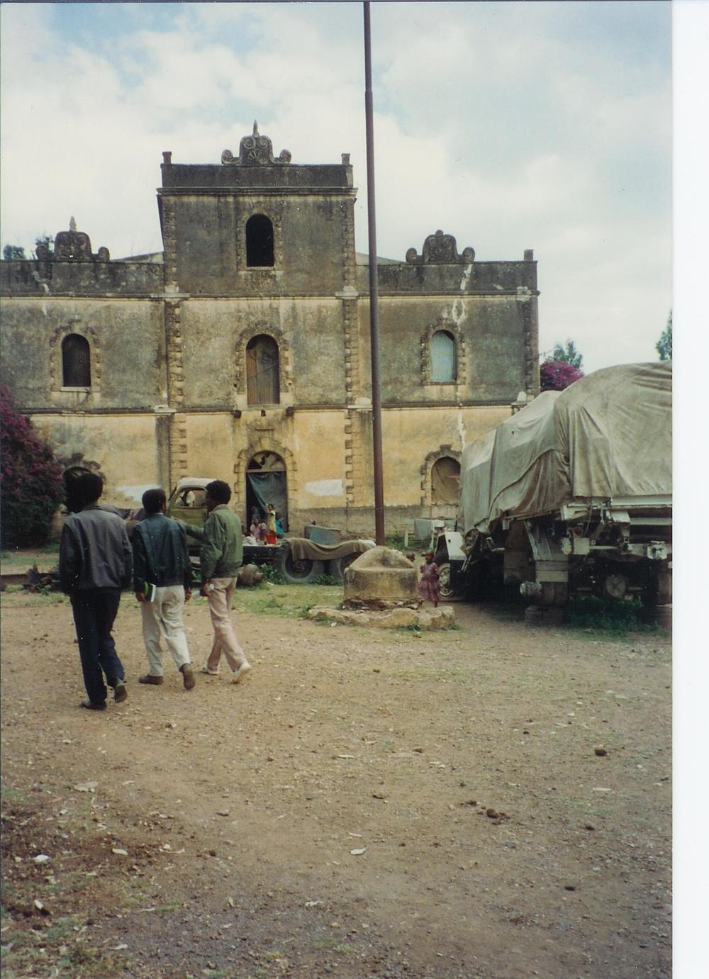 The building had been used by the Derg regime as a military outpost and as well as a prison. Many residents of Axum suffered countless abuses here.