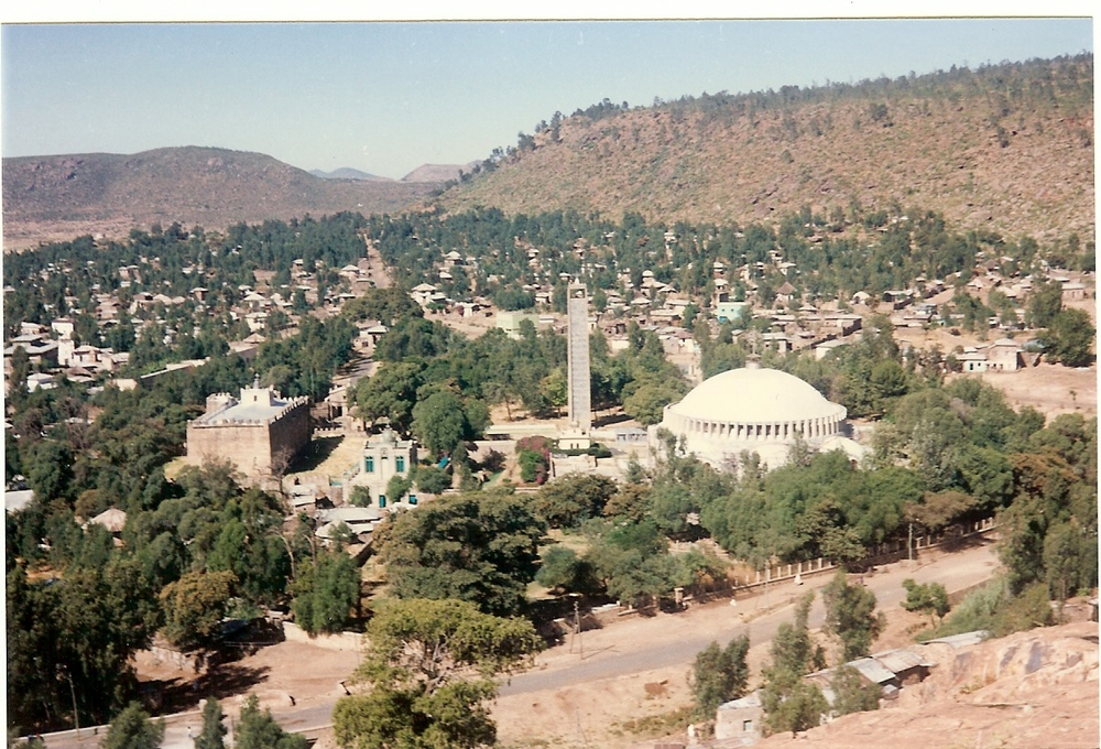 A hilltop view of Axum.