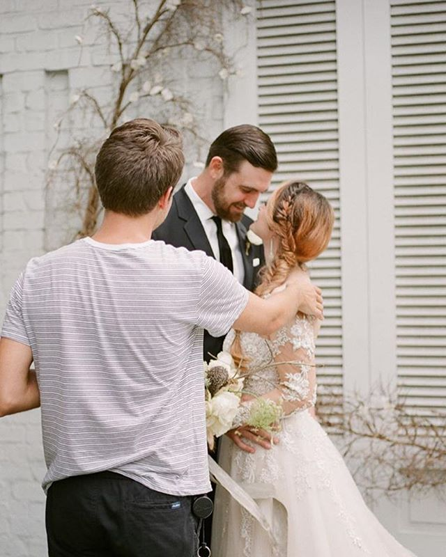 Remember that time me + husband got to play bride + groom for @portandunion ? Well they officially launched their site! That's Justin of @thehappybloom making us perfect- like everything else he does! Along with @lyndiandjasonphotography they have worked soooo hard to get this ready and I'm honored to have been a small part in the beginning of this journey!  Go check out the new site and give all the vendors who were involved some well deserved love ❤️ . .  Photography + Design: @thehappybloom | Venue: @bricehotel | Hair and Makeup: Lauren Kitchens of @royalmakeupandhair | Florist: @augustdesign | Cake: @vintagesoulcakes | Paper Goods & Calligraphy: @cakepapier | Bridal Boutique: @bleubellebridal | Dress Designer: @martinalianabridal | Suit: @theblacktux | Catering: @paccisavannah | Tabletop Rentals + Chairs: @oohevents | Linens: @eventworksrentals | Tabletop Accessories: @anthropologie | Napkin Rings: @cb2