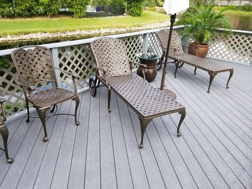 heavy cast aluminum furniture refinished in pelican bay leisure