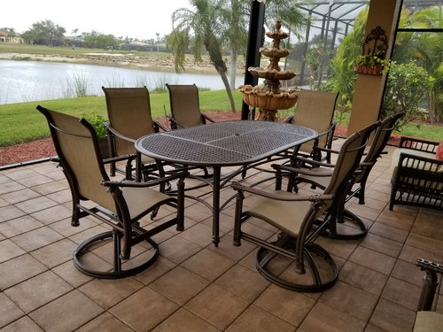 High End Outdoor Furniture Set Restoration In Naples Leisure
