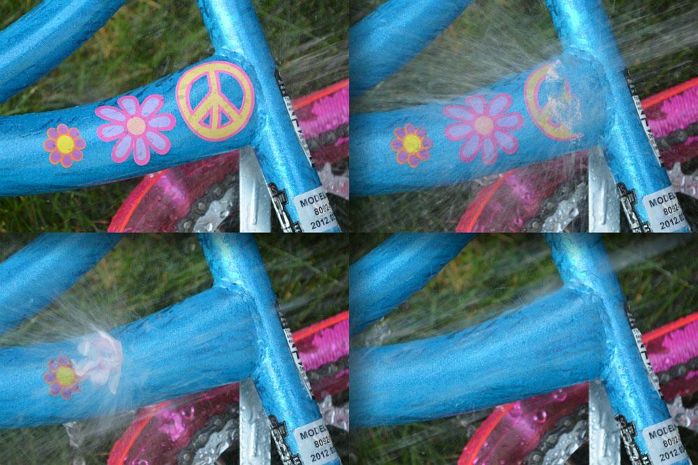 Dissolving Bike Stickers