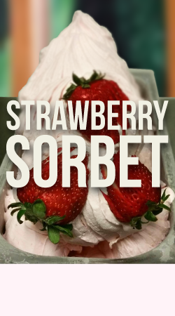 STRAWBERRY SORBET GELATO    Made with fresh, ripe strawberries.