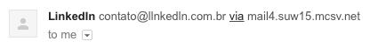 Reparou que o domínio éLLnkedLn.com.br e não Linkedin?