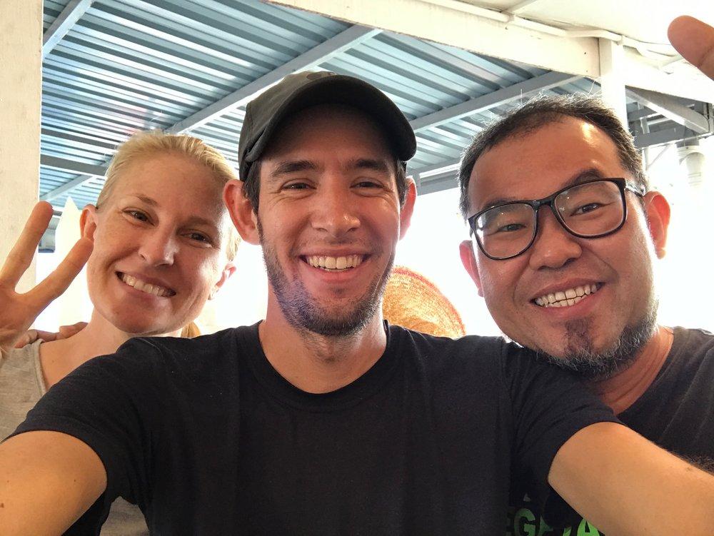 Selfies with Howard, our host in Melaka.