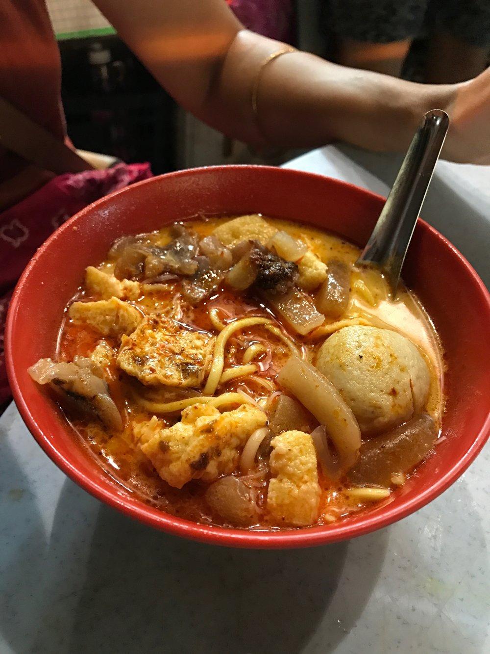 Street soup in Penang.