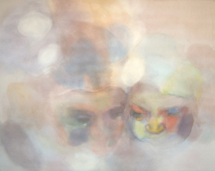 "The Son and the Moon , 2009, pastel on canvas, 58"" x 46"""