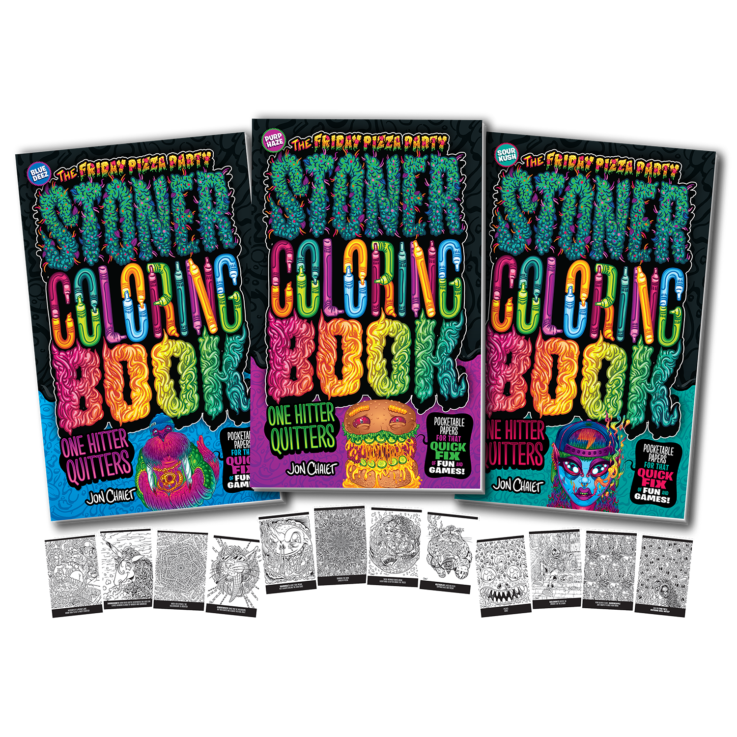 - FPP Stoner Coloring Book One Hitter Quitters — FRIDAY PIZZA PARTY