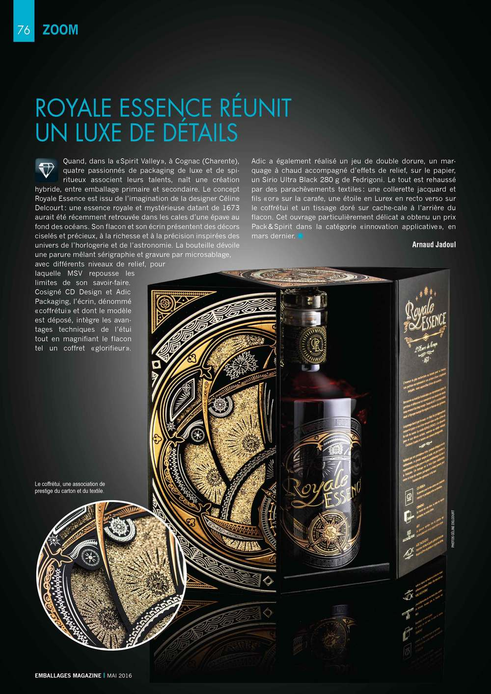 Article sur Emballages Magazine de ROYALE ESSENCE