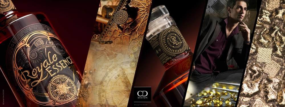 Exple Royale Essence // Création d'identité de marque à travers divers process...