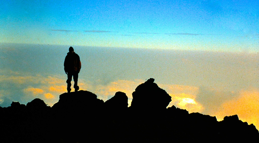 Looking out over Africa from Barafu High Camp on Kilimanjaro.