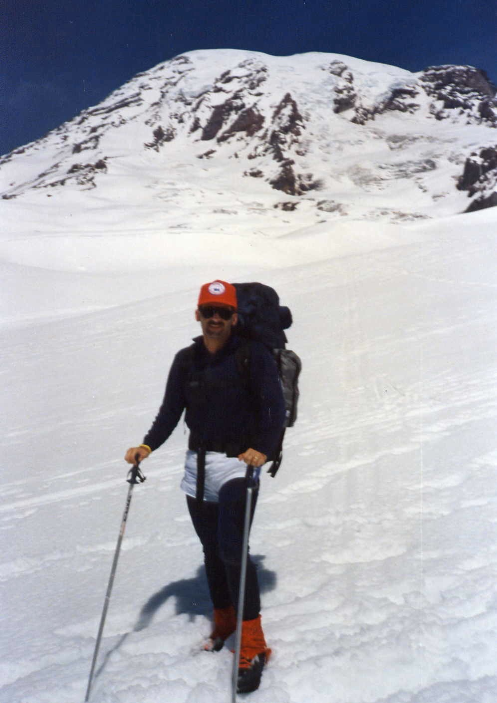 On Muir Snowfield. Mount Rainier.