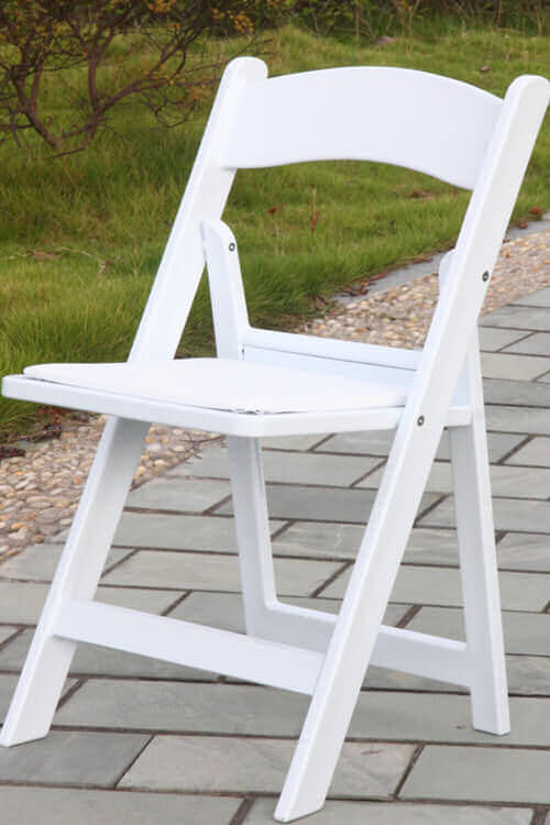 White Wooden<br/> Folding Chair<br/> - $2.75