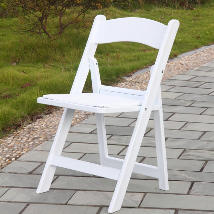 white wooden folding chair rental