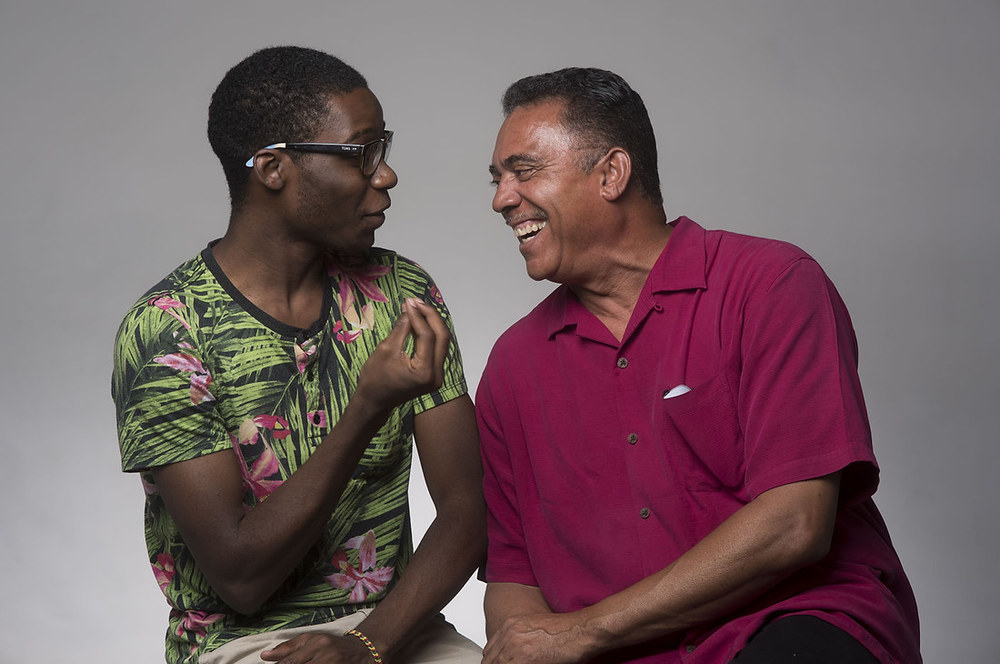 Dexter Henderson with Donald G. Williams (right), Director of the Cultural Arts & Diversity Resource Center.
