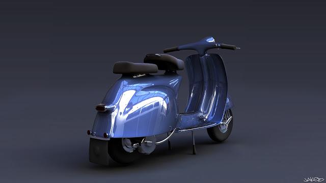 Blue Vespa Jaked3d