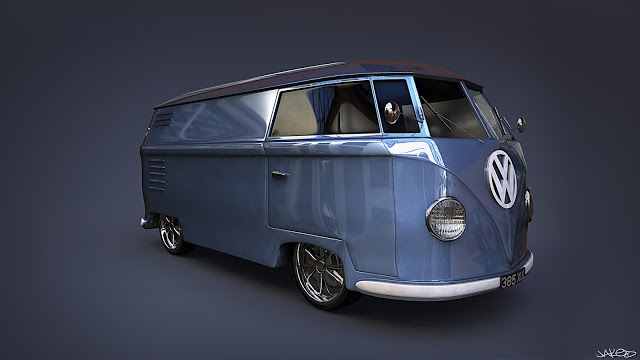 Blue VW Jaked3d