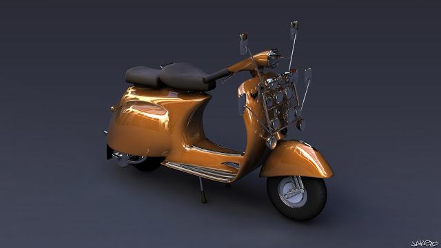Orange Vespa Jaked3d